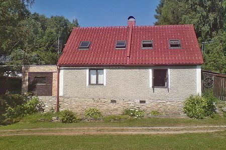Chata na Lipně v jižních Čechách
