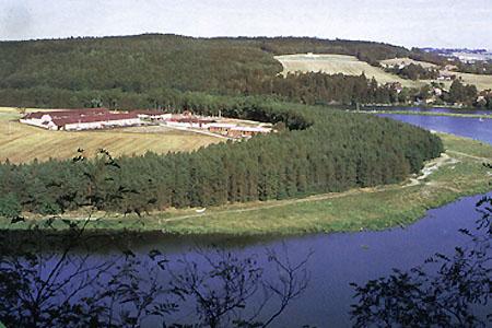 Ubytování jižní Čechy - Hotel u Lužnice - pohled z výšky