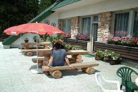 Ubytování Krkonoše - enzion v Rokytnici nad Jizerou v Krkonoších - venkovní posezení